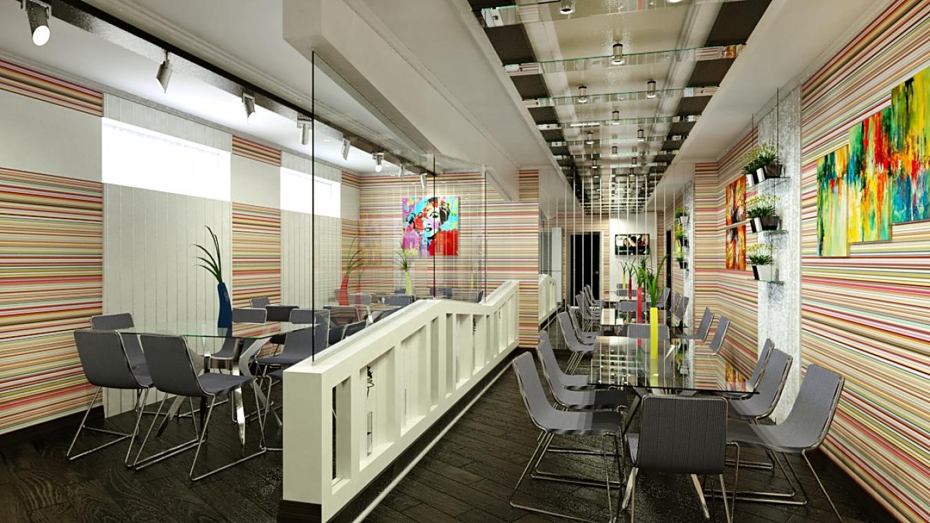 Дизайн столовой в офисе