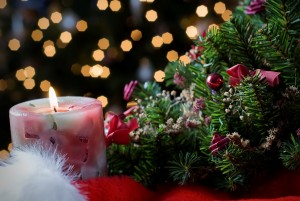 new-year-the-mood-of-celebration-christmas-tree-toys-garland-lights-a-candle